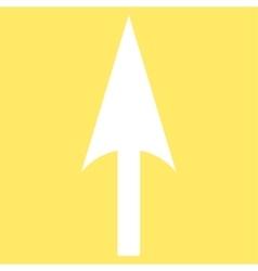 Arrow axis y flat white color icon vector