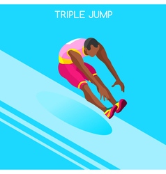 Athletics jump 2016 summer games 3d vector