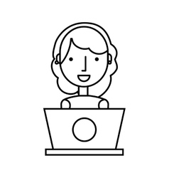 Business person with laptop vector
