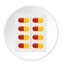 Capsules icon circle vector