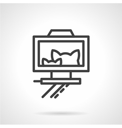 Cats selfie simple linear icon vector