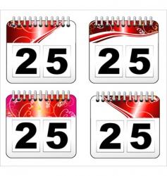 Christmas day calendar icon vector image