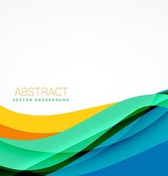 clean colorful wave design vector image vector image