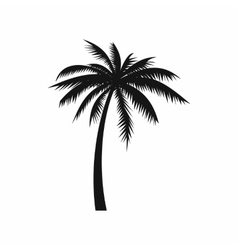 Coconut palm tree icon simple style vector image vector image