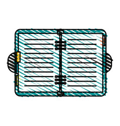 color crayon stripe image notebook opened with vector image