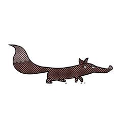 Comic cartoon little fox vector