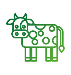 cow drawn isolated icon vector image