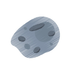 Drawing asteroid meteorite rock image vector