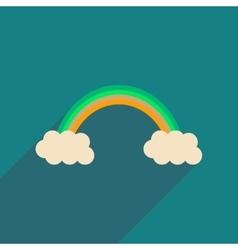 Flat web icon with long shadow rainbow vector