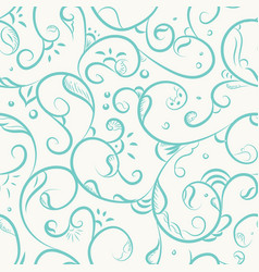 floral iznik pattern vector image vector image