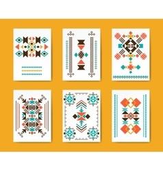 Geometric hipster tribal triangular flyers vector