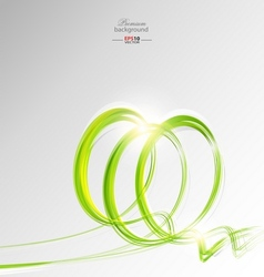 Green shapes abstract background vector image