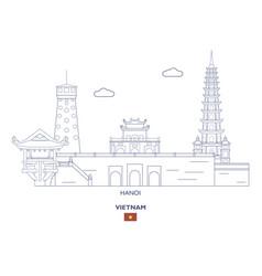 Hanoi city skyline vector