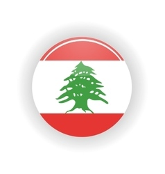 Lebanon icon circle vector
