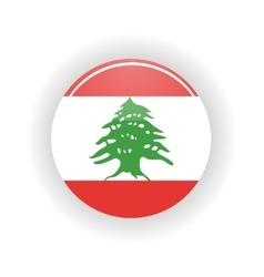 Lebanon icon circle vector image