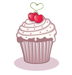 love cupcake vector image vector image