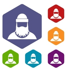 Lumberjack icons set vector image