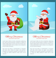 merry christmas santa set vector image