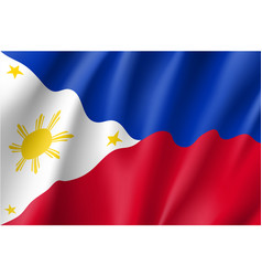 National flag of philippines republic vector
