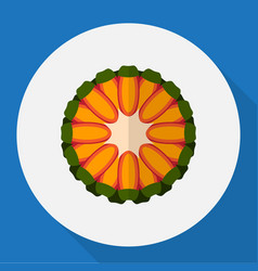 of fruits symbol on tropical vector image