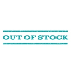 Out of stock watermark stamp vector