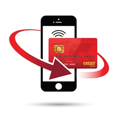 Red mobile payment vector