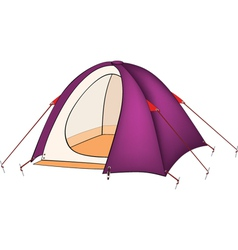 Violet tent vector image