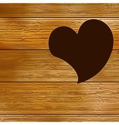 Wooden door heart shape EPS8 vector image