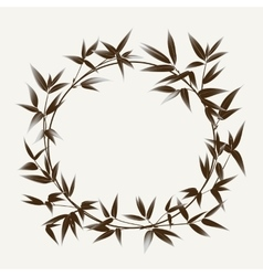Ink paint bamboo frame vector