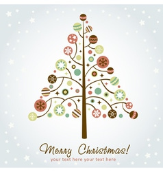 Stylized design christmas tree vector
