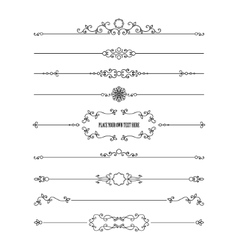 Frame and dividers set isolated on white vector