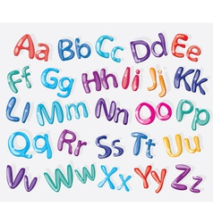Cartoon colorful alphabet vector