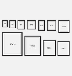 picture and photo frames size vector image