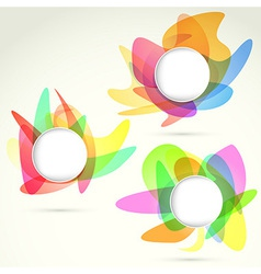 Bright colorful design elements templates vector image