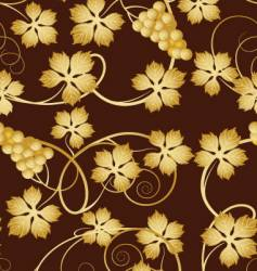 Grapevine seamless pattern vector