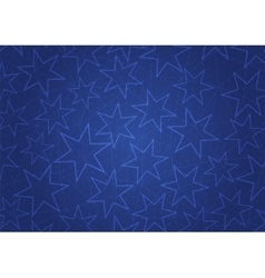 Abstract blue background with stars vector