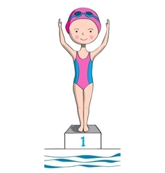 Sports for kids swimming vector