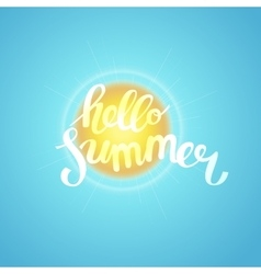 Hello summer summer time vector