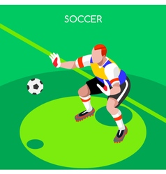 Soccer goalkeeper 2016 summer games isometric vector
