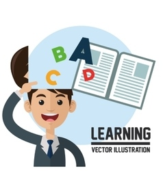 Learning design colorfull  book icon vector