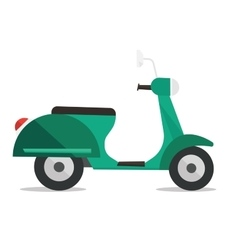 Modern classic scooter vector image