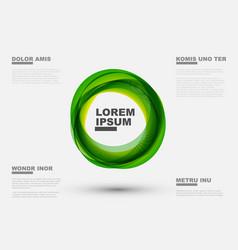 abstract green circles vector image