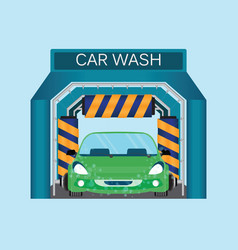 Automatic car wash car wash foam water vector