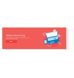Banner online advertising vector image