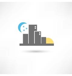 Big grey city vector image vector image