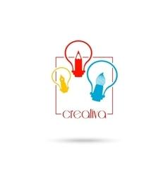 Creative light bulb Idea concept symbol design for vector image vector image