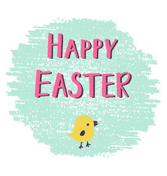 Easter greeting card with hand drawn lettering vector