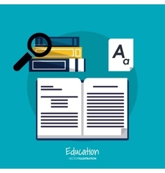 Education learning school book lupe design vector