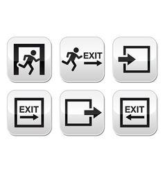 Emergency exit buttons set vector