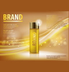 essence contained ads gold translucent glass vector image vector image